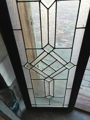 Sg 620 Antique Textured And Beveled Glass Transom Window 3