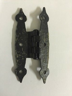 48 Antique Black Painted Iron Door Cabinet/Drawer Hinges 3.5 Inches 4