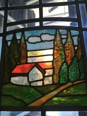 Arts And Crafts Craftsman Style  Leaded Stained Glass Windows 11