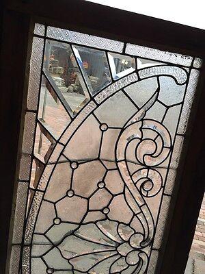 Sg 366 Amazing Arch Jeweled Beveled Glass Transom Window 2