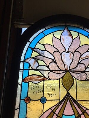Co 14 Antique Stained Glass Landing Window Many Jewels Victorian Antique 2