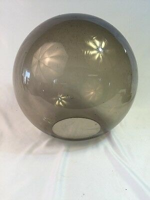 Vintage Mid Century Smokey Plexiglas Outside Pole Light Lamp Landscaping Fixture 7