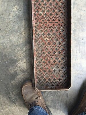 "Rt 6 Antique Cast-Iron Radiator Cover 29"" X 8.5"" 7"