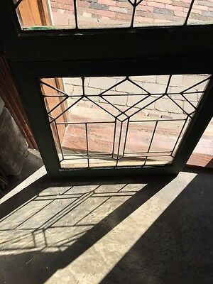 """Sg688 Two Available Price Separate Leaded Glass Windows Antique 24.25 X 25"""" High 3"""
