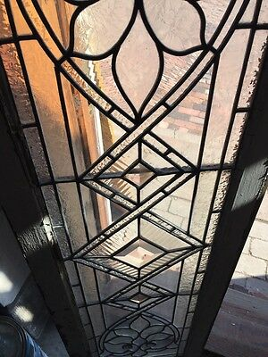 Sg 574 Antique Transom Window Beveled Glass Textured And Jewels 3