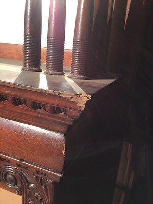 Bb3 Antique Spindle Carved Oak Fireplace Mantel Quartersawn 8