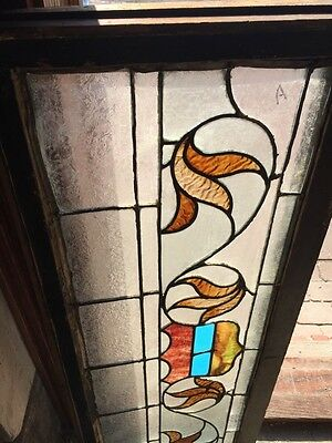 """Sg 818 Antique Transom Window 16"""" X 42"""" 2"""