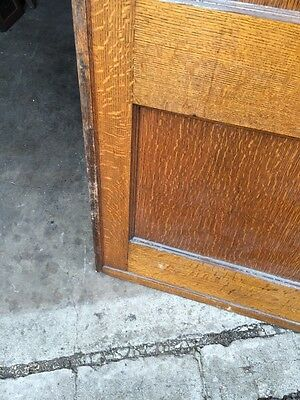 Cm 49 Antique Oak Two Panel Pocket Door 12