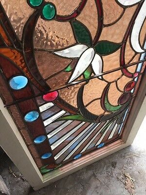 An #2 Amazing Antique Combo Window Victorian Stain Jeweled Beveled Keeper 5
