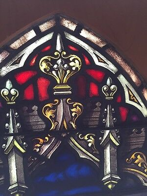 Sj 101 Antique Painted In Fired Heavenly Angel Window With Chalice 3