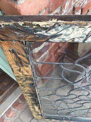 "St 838 Antique Leaded Glass Window 21"" X 34.5"" 5"