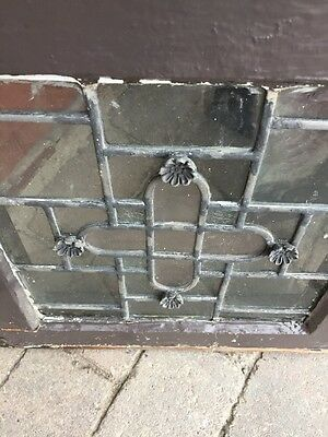 Sg 887 Matched Pair Antique Leaded Glass Windows 5