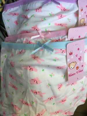Girls 4 pack COTTON pants briefs knickers boxers shorts Age 2 4 5 6 7 8 9 10 yrs 7