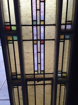 Number Two Of Youngstown's Finest Antique Stainglass Windows Tall In Woodframe 4