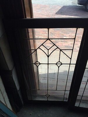 Sg 868 Two Available Price Separate Antique Leaded Glass Window /Cabinet Door 2