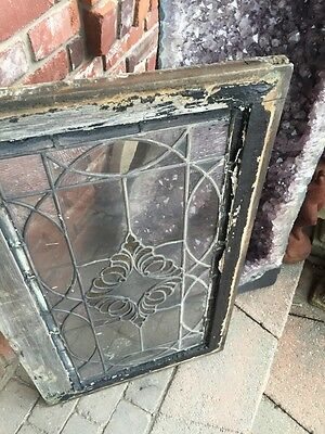 Sg 849 Antique Stain Glass Textured Glass Window 9