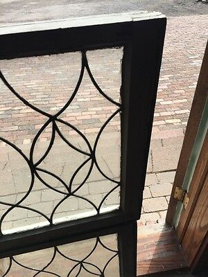 Sg 657 Antique Leaded Glass Window Two Available Priced Each 4