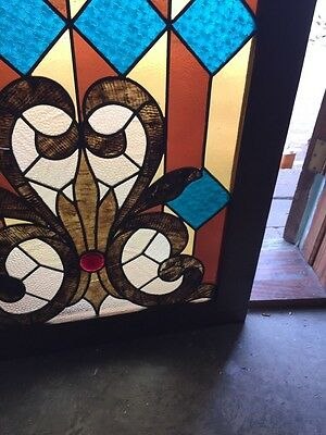 Sg 764 Antiques Stainglass Window 29 In An 8Th Inch Wide 41 1/2 High 5