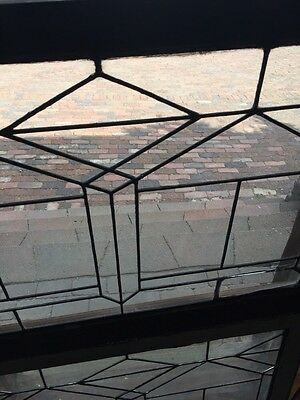 Sg 705 Two Available Price Separate Antique Leaded Glass Window 3