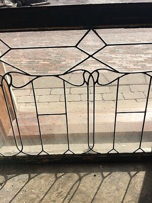Sg 652 Antique Leaded Glass Window Six Leaves 3