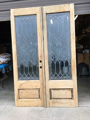 D 15 Matched Pair Beveled Glass Entrance Double Door 2