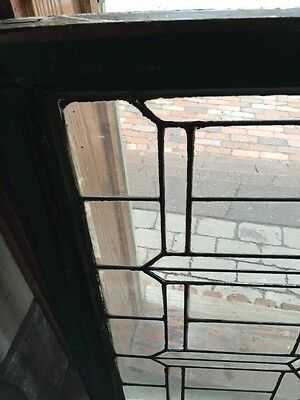 Sg 628 Antique Leaded Glass Transom Window