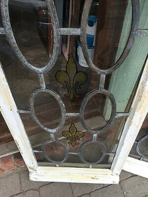Sg 373 Antique Fluer De Lis Vertical Windows Matched Pair