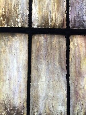 "Ca 5Antique Stained Glass Window 129"" X 32 And Three-Quarter Inches 6"
