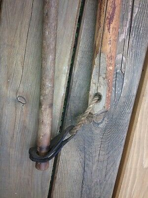 1800s Antique Vtg Old Wood Flail Farm Threshing Tool Origin of Karate Nunchuck Z