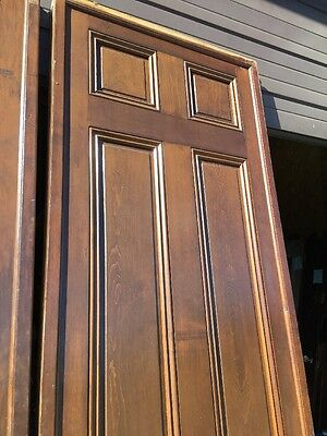 "Ar 139 1 Set Antique Raised Panel Pine Pocket Doors 70"" X 106"" 6"