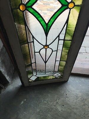Sg 742 Antique Transom Window 4 Faceted Jewels