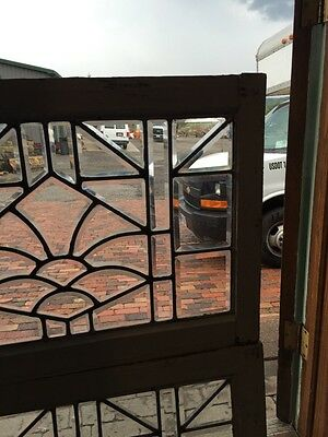 Sg 843 Two Available Price Separate Antique Beveled Glass Window 4