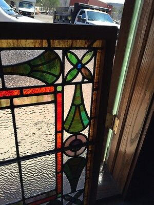 Sg 777 Antique Stained Glass Window Colorful 5