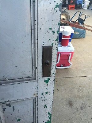 D206 Metal Galvanized Arch Top Door Antique 9