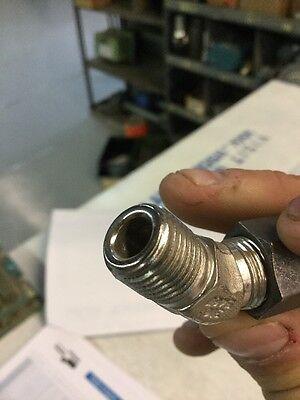 """Parker CPI 6-4 VBZ-SS Male Elbow 45° 3/8"""" Tube X 1/4"""" MNPT Tube Fitting"""