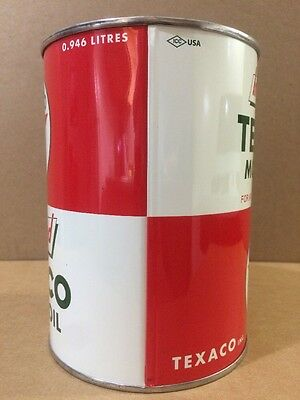 Texaco Motor Oil Can Rare Empty Quart Gas sign Reproduction Vintage Style 2