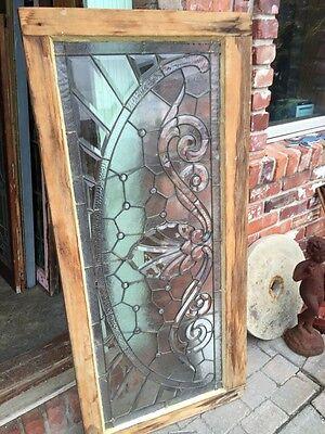 Sg 366 Amazing Arch Jeweled Beveled Glass Transom Window 8