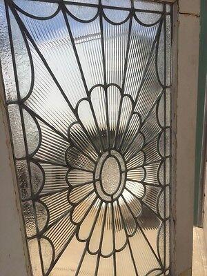 Ad 3 1 Pair Antique Double Door Leaded Glass Passage Set 9