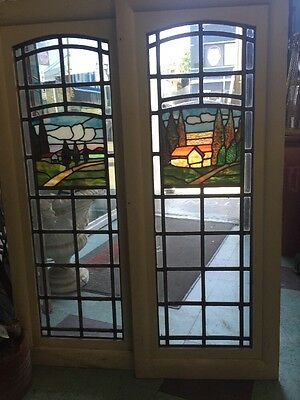 Stained-Glass Arts And Crafts Craftsman Style  Leaded  Windows 2