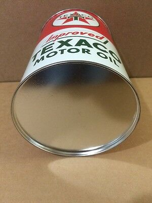 Texaco Motor Oil Can Rare Empty Quart Gas sign Reproduction Vintage Style 6