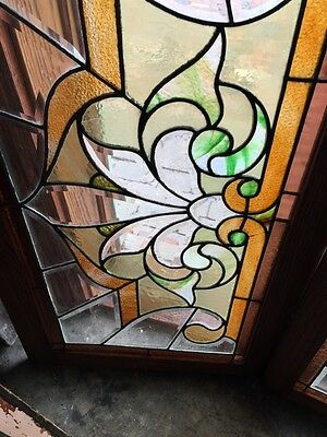 Sg 308 Two Available Price Each Antique Stained And Double Glass Transom Windows 3