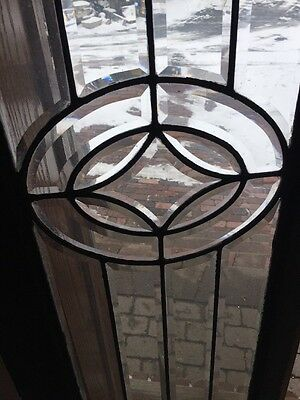 Sg 1260 Antique All Beveled Glass Transom Window 16.75 X 84.5