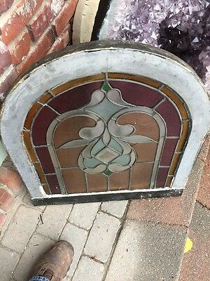 Sg 903 Antique Arch Top Stainglass Window 8