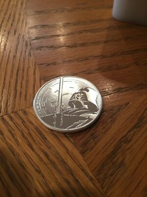 2018 $2 Niue Silver Darth Vader Star Wars .999 1 oz Brilliant Uncirculated 5