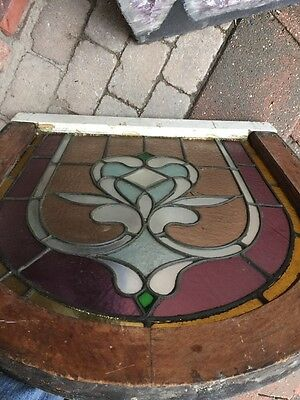 Sg 903 Antique Arch Top Stainglass Window 9