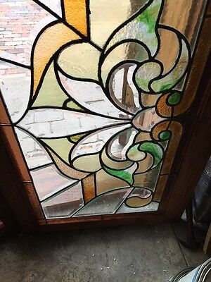 Sg 308 Two Available Price Each Antique Stained And Double Glass Transom Windows 6