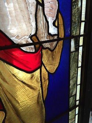 Sg 439 Antique Figural Window Man Holding Keys 5