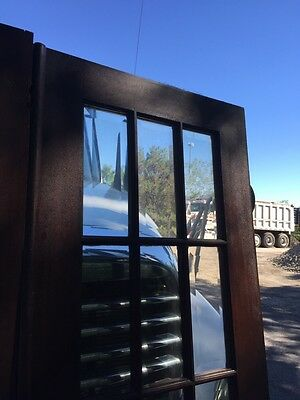 Cm 25 One Pair Antique Beveled Glass Birch 54 Inch Wide French Doors 2
