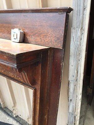 M 38 Antique Oak Fireplace Mantle Quartersawn 5