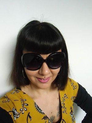1 sur 7Seulement 4 disponibles Grosses lunettes de soleil oversize branches  monture noire rétro pinup 5d7d8d4c9adc